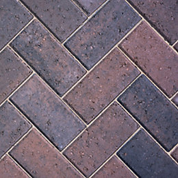 Burnt Oker Driveway Block Paving (L)200mm (W)100mm, Pack