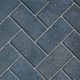 Charcoal Europa Block Paving (L)200mm (W)100mm, Pack of