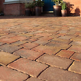 Brindle Woburn Rumbled Block Paving (L)100mm (W)134mm, Pack