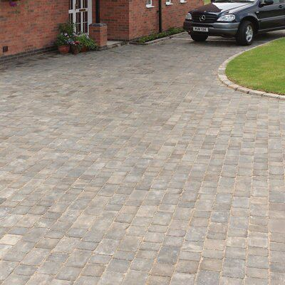 Graphite Woburn Rumbled Block Paving (L)100mm (W)134mm, Pack