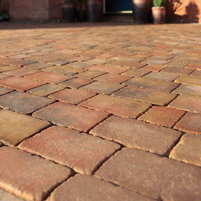 Brindle Woburn Rumbled Block Paving (L)200mm (W)134mm, Pack