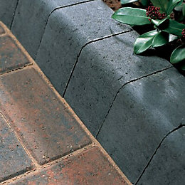 Block Kerb Charcoal, (L)100mm (H)200mm (T)125mm Pack of