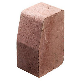 Block Kerb Red, (L)100mm (H)200mm (T)125mm Pack of