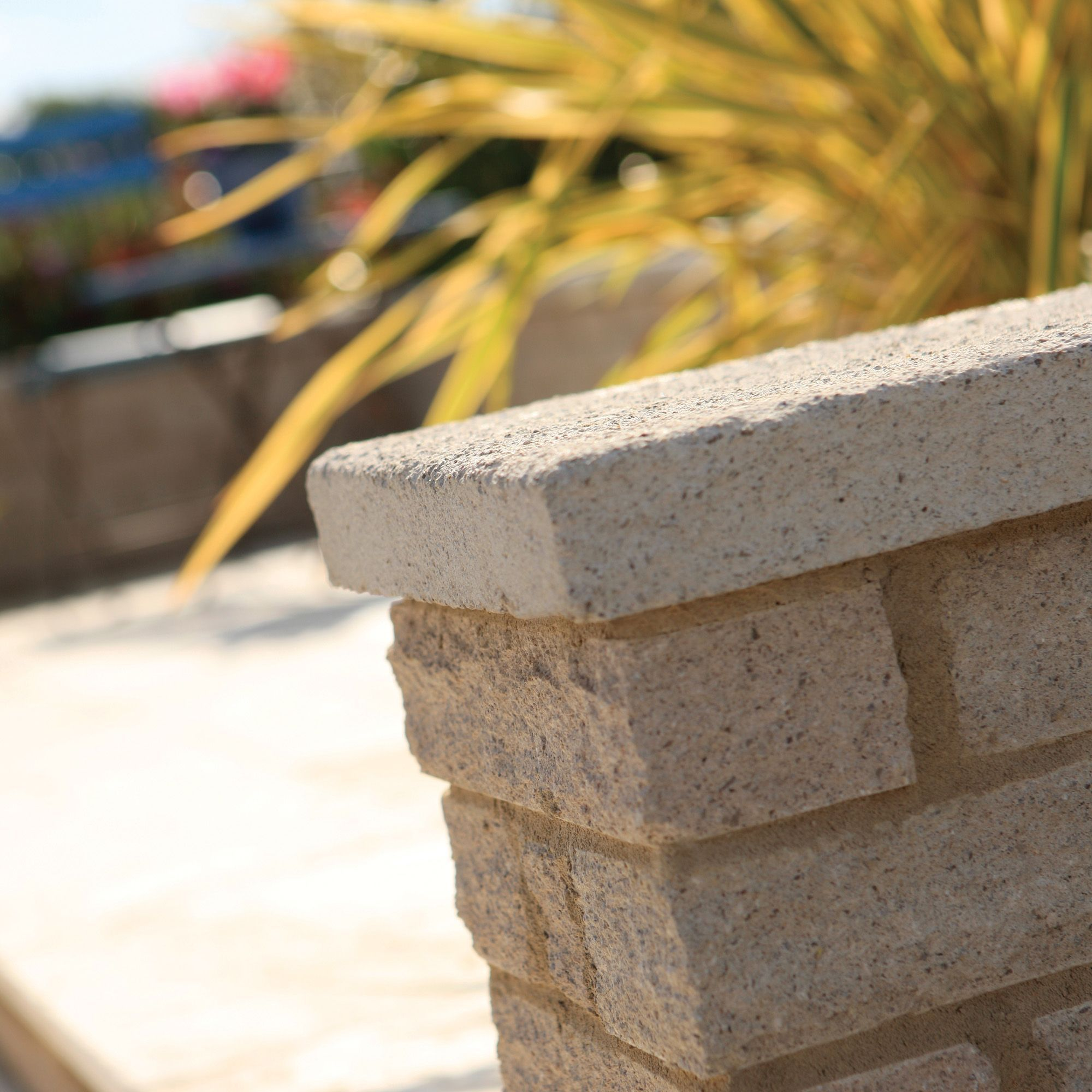 Pitched Buff Walling Stone, (L)290mm (W)63mm (T)90mm