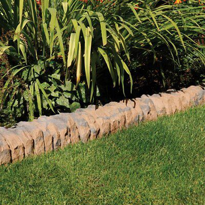 Traditional Ancestry Paving edging Abbey brown, (L)510mm (H)160mm