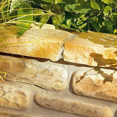 Sandstone Double Sided Coping Modac, (L)450mm (T)35-40mm Pack