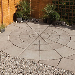 Grey Green Old Town Outer Circle Paving Pack4M