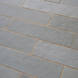 Azure grey Natural Limestone Paving slab (L)800mm (W)200mm