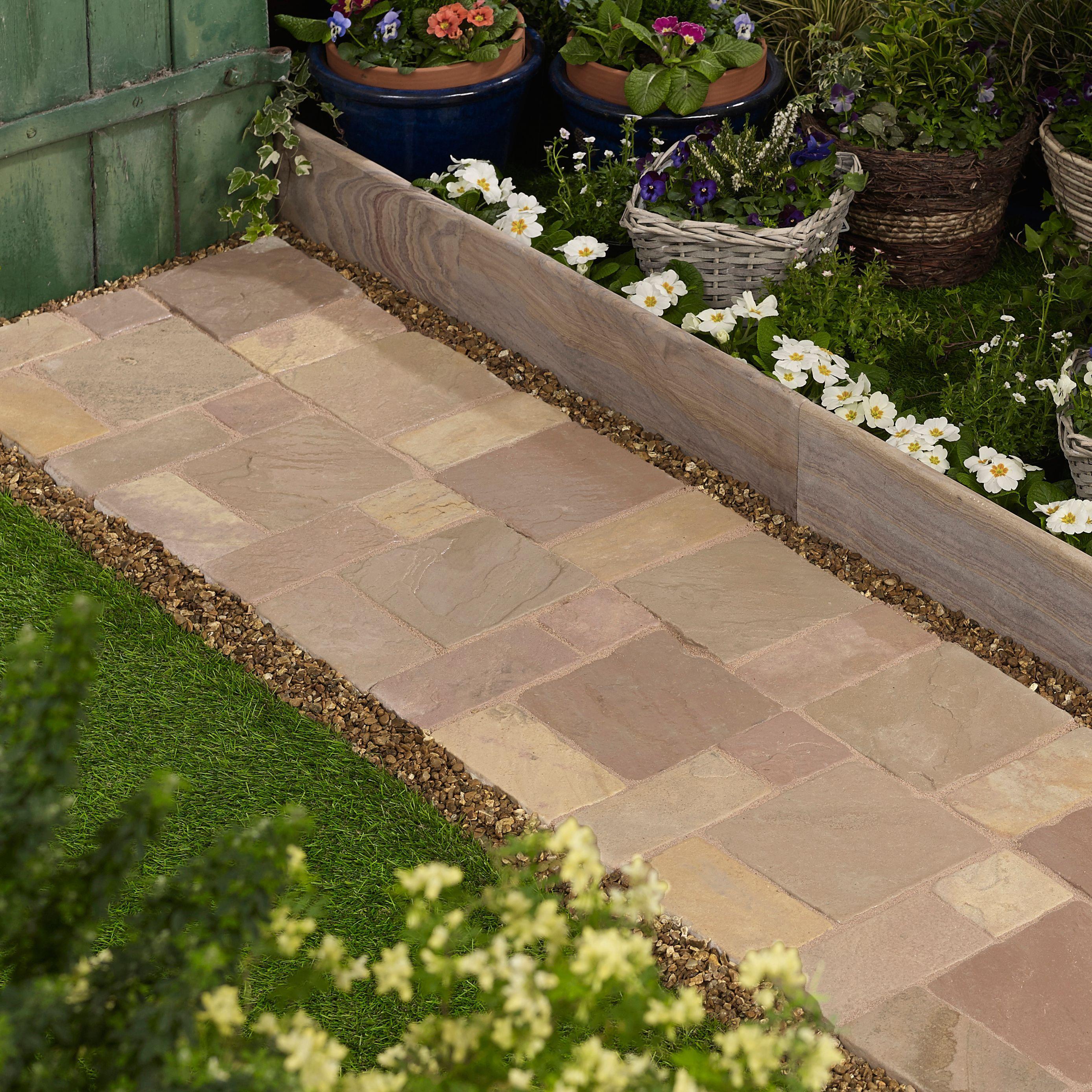 Modac Natural Sandstone Cobble mat (L)500 (W)300mm Pack