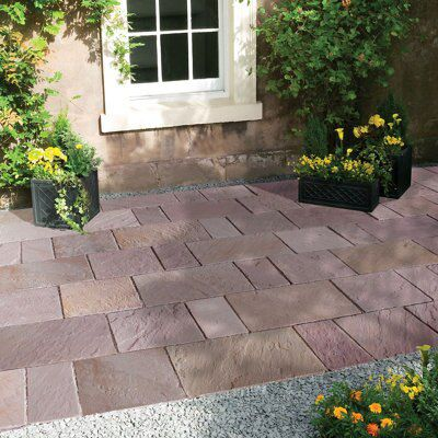 Modac Sawn natural sandstone Mixed size paving pack