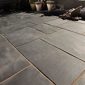 Blue Black Natural Slate Paving patio