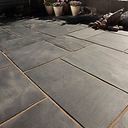 Blue black Natural Slate Mixed size paving pack