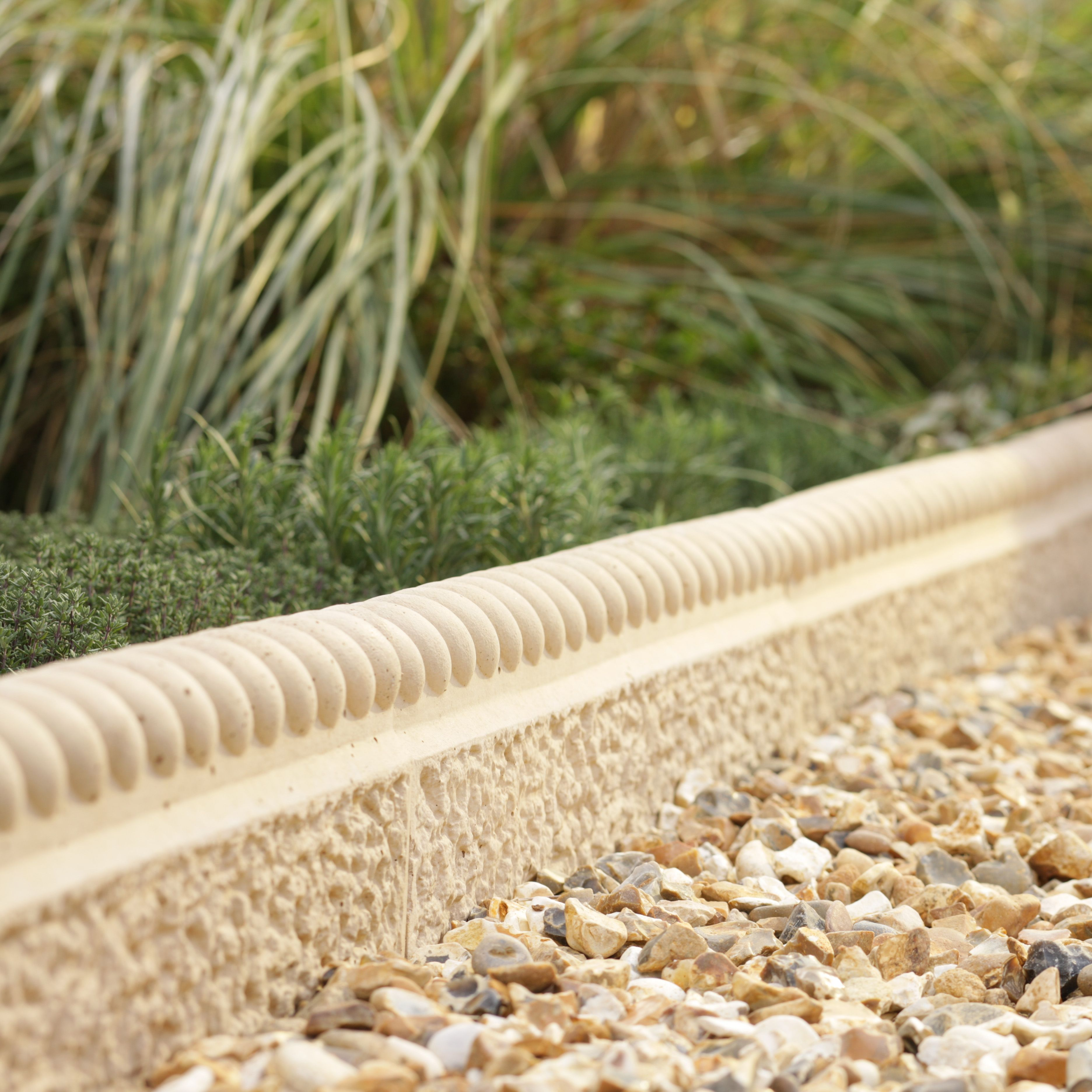rope top paving edging cotswold l 600mm h 150mm t 50mm pack of