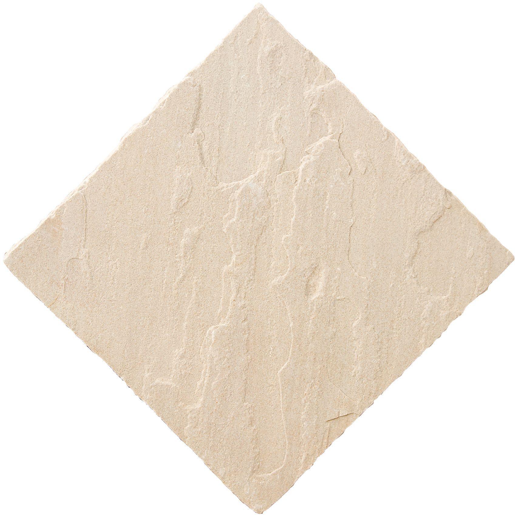 Fossil Buff Natural Sandstone Paving Slab L 600 W 600mm