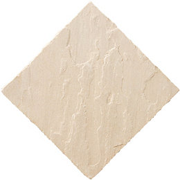 Fossil buff Natural Sandstone Paving slab (L)600 (W)600mm