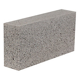 Aggregate Industries Grey Concrete Dense block (H)215mm (W)100mm