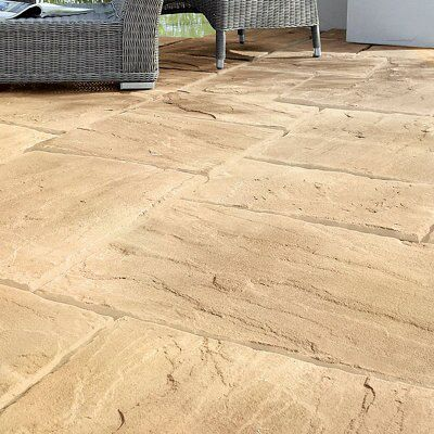 Autumn Wetherdale Single paving slab (L)600mm (W)450mm