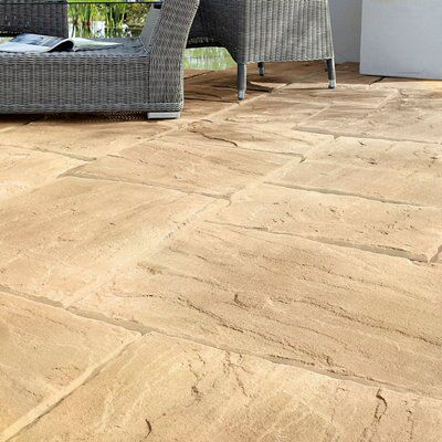 Autumn Wetherdale Single paving slab (L)300mm (W)450mm