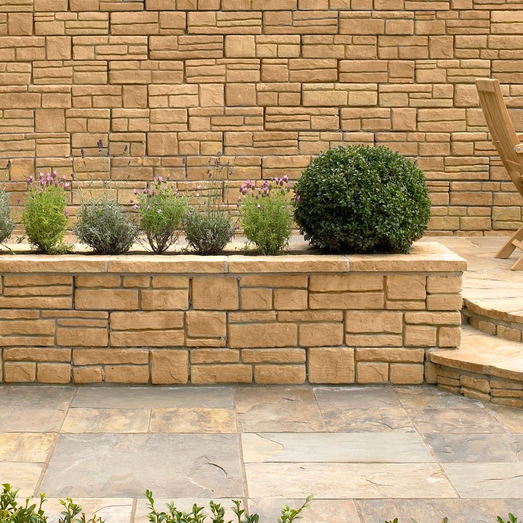 Exterior: Wetherdale Double Sided Coping Stone Autumn, (L)460mm (H
