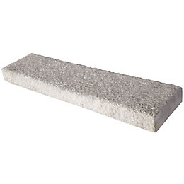 Textured Dark grey Coping stone, (L)580mm (W)136mm (T)50mm