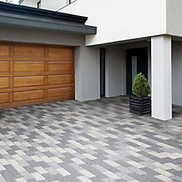 Dark Grey Washed Stonemaster Paving Slab (L)300mm (W)100mm,