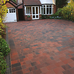 Brindle Driveflair Mixed Size Block Paving, Pack of