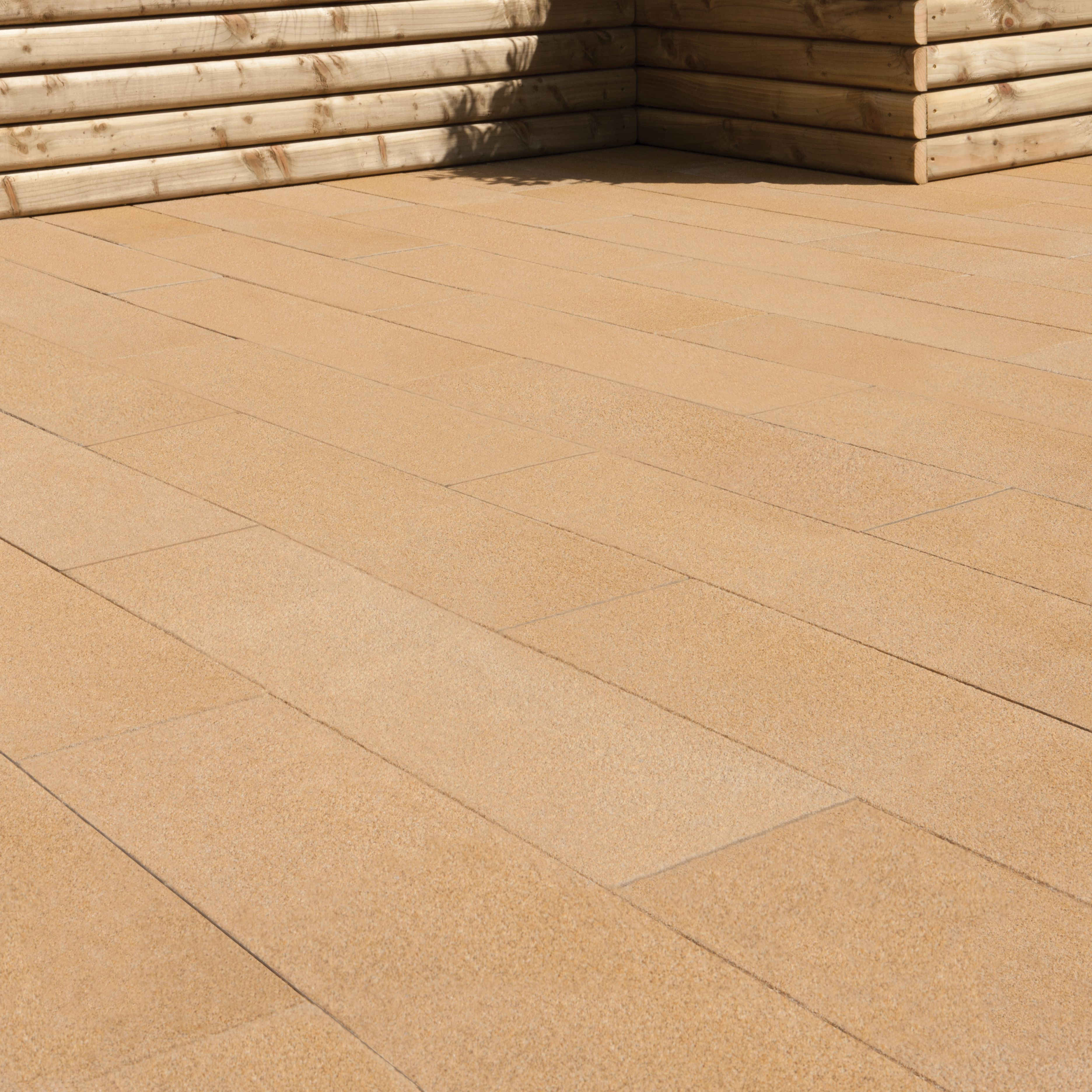 Mid buff washed Stonemaster Paving slab (L)800 (W)200mm