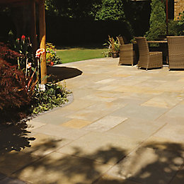 Honeymede Limestone Mixed size paving pack (L)3690 (W)2760mm