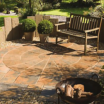 Ancestry Abbey Brown Paving Circle Squaring Off Pack