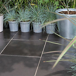Anthracite Arnhem Single paving slab (L)450mm (W)450mm