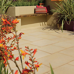 Cotswold Aged riven Mixed size paving pack (L)3600