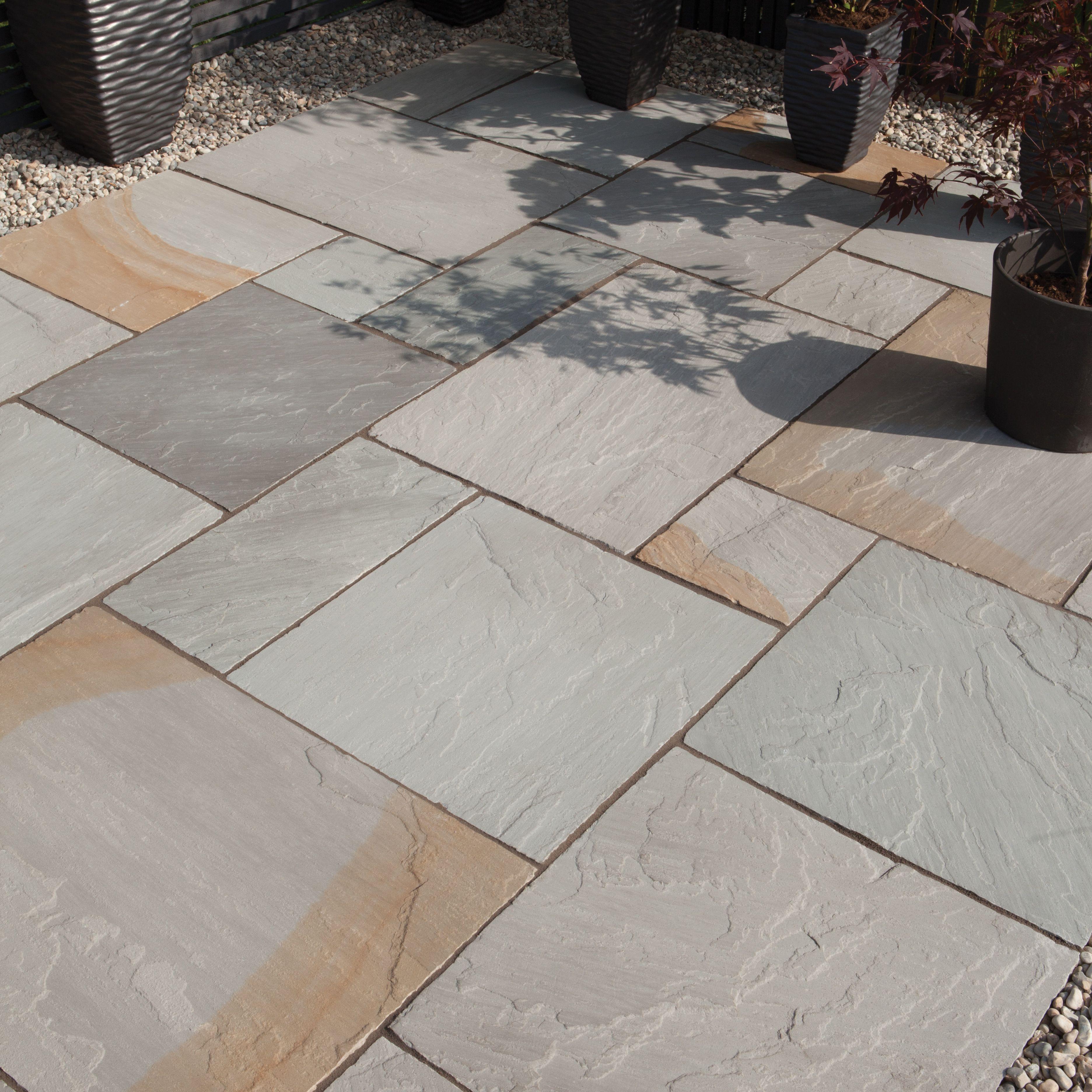 rustic grey natural sandstone single paving slab l 600mm. Black Bedroom Furniture Sets. Home Design Ideas