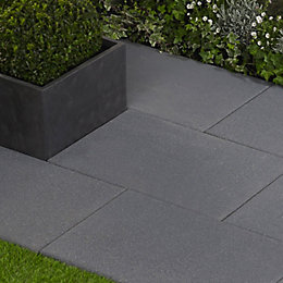 Speckled Anthracite Lisse Single Paving Slab (L)600mm (W)400mm