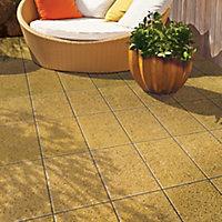 Speckle buff Lisse Single paving slab (L)600mm (W)400mm