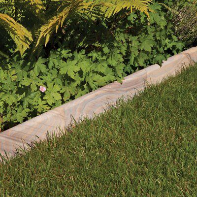 Smooth Natural Sandstone Paving Edging Rainbow, (L)600mm (H)150mm