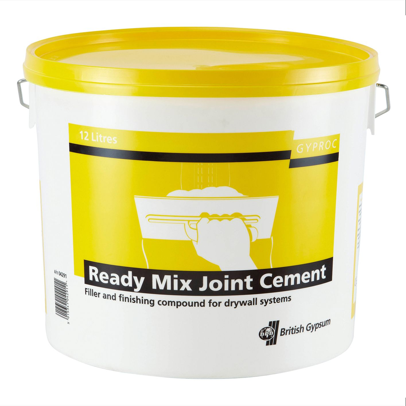 Gyproc Ready Mix Joint Cement 12l Departments Diy At B Amp Q