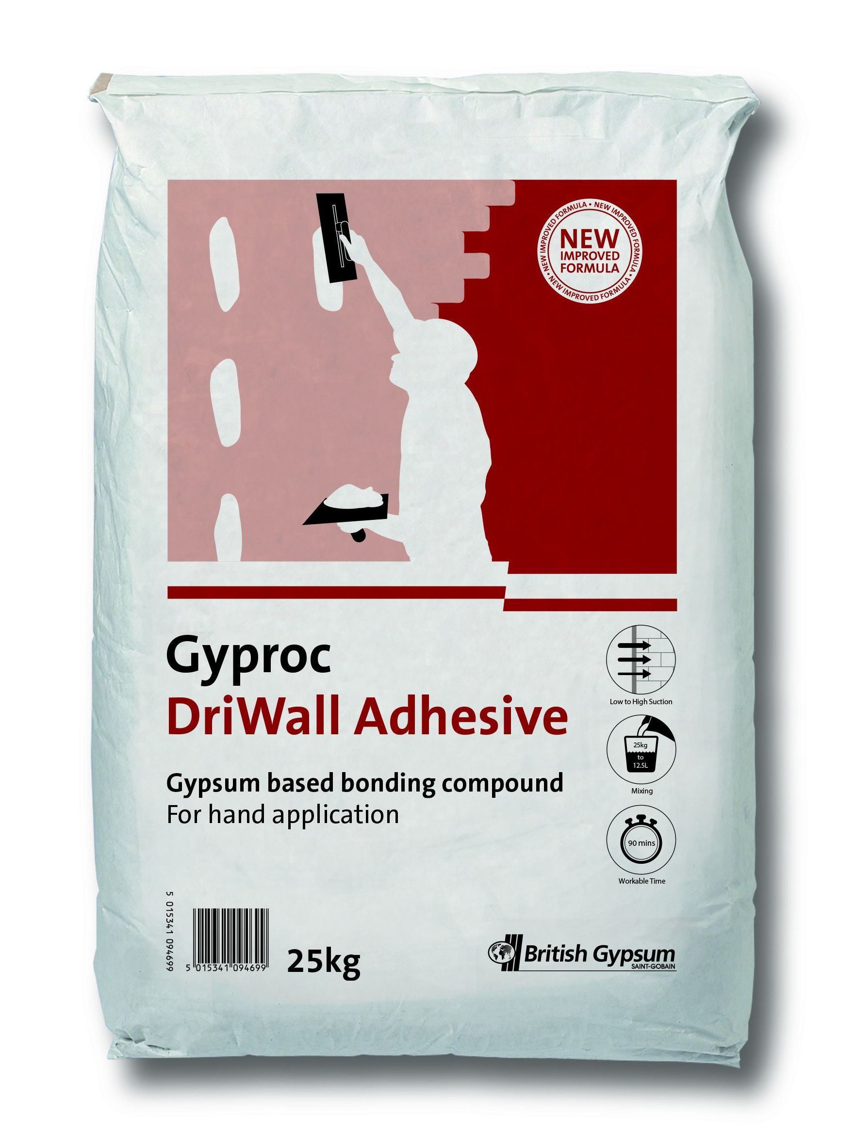 Gyproc Driwall Adhesive 25kg Departments Diy At B Amp Q