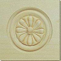 Solid pine Flower corner blocks (W)90mm (L)90mm