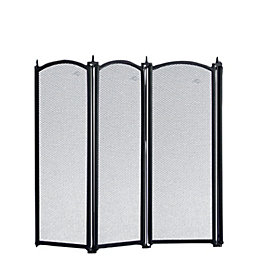 Slemcka Traditional 4 Fold Cast Iron Fire Screen