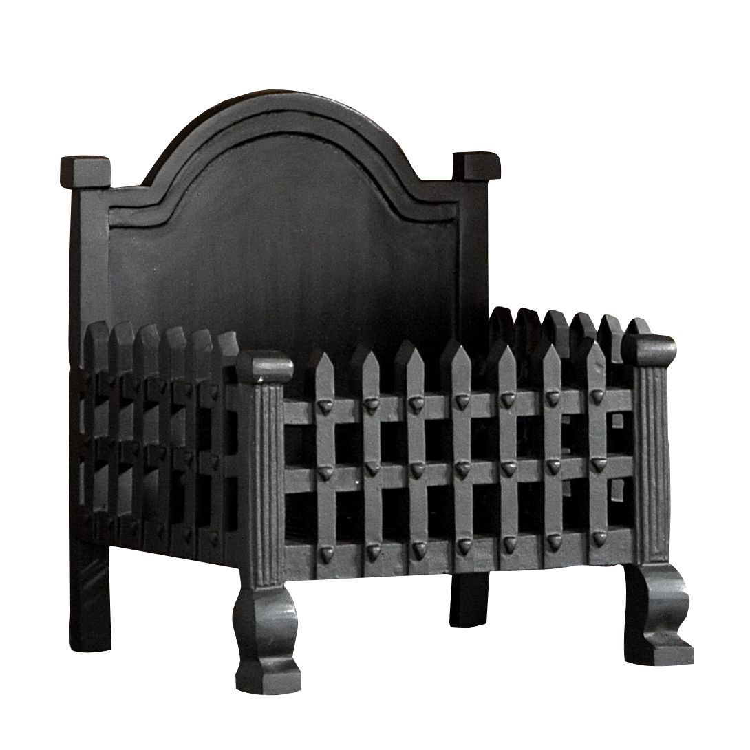 Slemcka Traditional Cast Iron Fire Basket H 300mm D