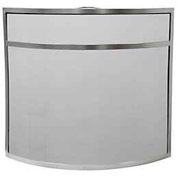 Slemcka Contemporary Metal Fire Screen (H)640mm (W)715mm (D)140mm