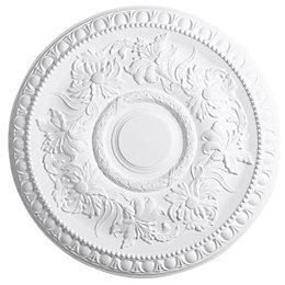 Artex Richmond White Ceiling Rose (Dia)530mm