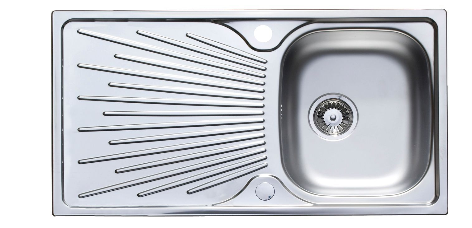 Astracast Sunrise 1 Bowl Satin Stainless Steel Sink & Drainer ...