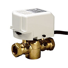 Drayton Compression 2 Port motorised valve (Dia)22mm