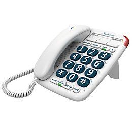 BT 200 big button White Corded Telephone
