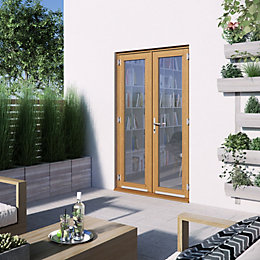 1 Lite Clear 2 panel Golden oak Hardwood
