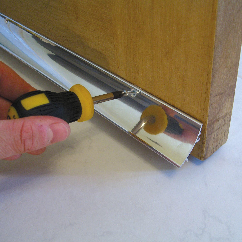 & Stormguard Aluminium Rain deflector (L)838mm | Departments | DIY at Bu0026Q