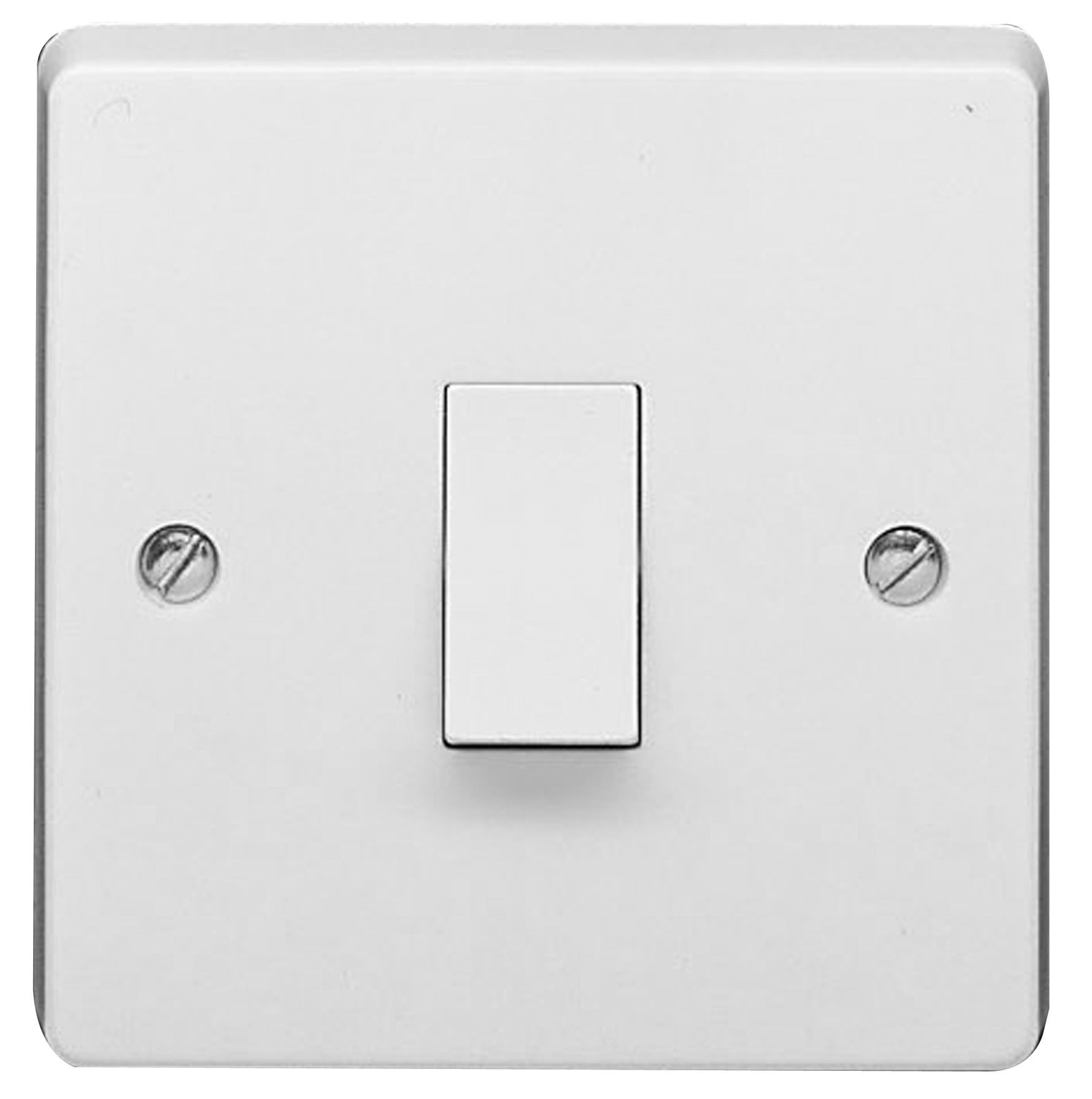 Crabtree 10A 2-Way Double White Gloss Light Switch | Departments ...