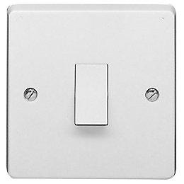 Crabtree 10A 1-Way Single White Gloss Light switch
