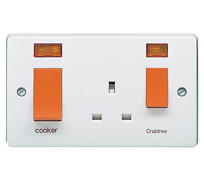 Crabtree 45a double pole white cooker switch socket crabtree 45a double pole white cooker switch socket departments diy at bq cheapraybanclubmaster Image collections